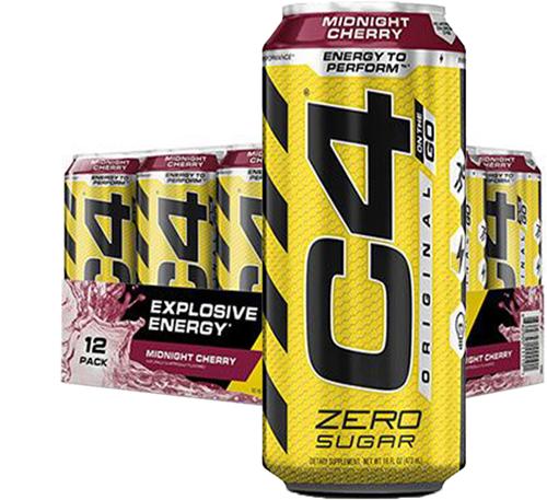 C4 Carbonated Midnight Cherry (12 x 473 ml)