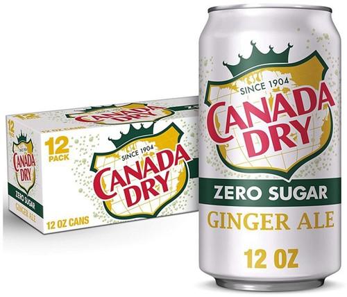 Canada Dry Ginger Ale Zero Sugar (12x 355 ml)