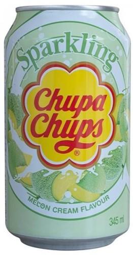 Chupa Chups Sparkling Melon & Cream (1 x 345 ml)