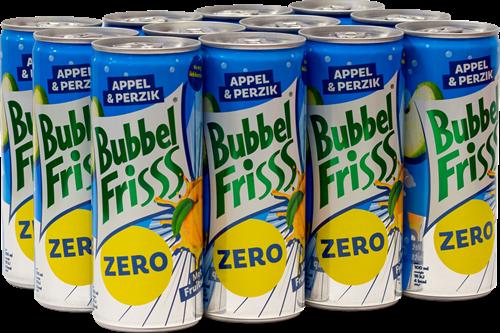 Dubbelfris Bubbelfrisss Appel Perzik Zero (12 x 250 ml)