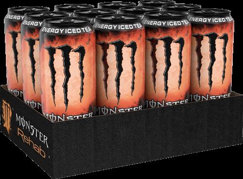 Monster Energy Rehab Peach Tea (12 x 500 ml)