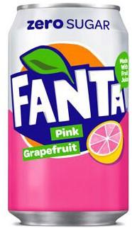 Fanta Zero Pink Grapefruit (24 x 330 ml)