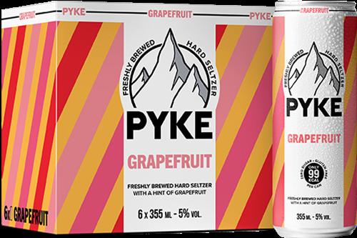 Pyke Hard Seltzer Grapefruit (6 x 355 ml)