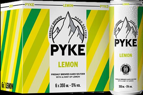 Pyke Hard Seltzer Lemon (6 x 355 ml)