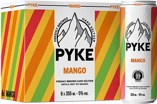 Pyke Hard Seltzer Mango (6 x 355 ml)