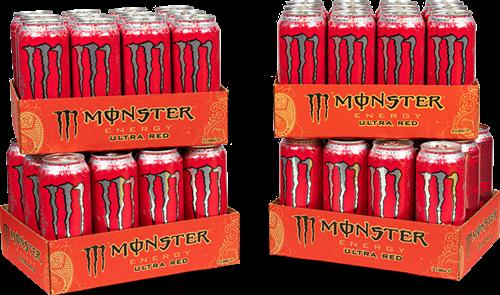 Monster Energy Ultra Red 4 Pack (48 x 500 ml)