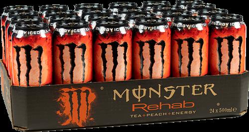 Monster Energy Rehab Peach Tea (24 x 500 ml)