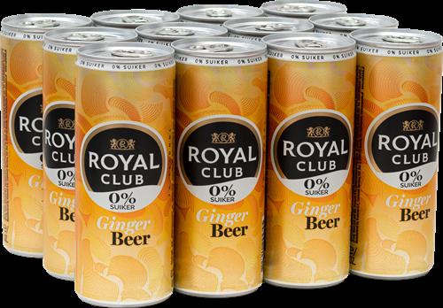 Royal Club Ginger Beer 0% suiker (12 x 250 ml)