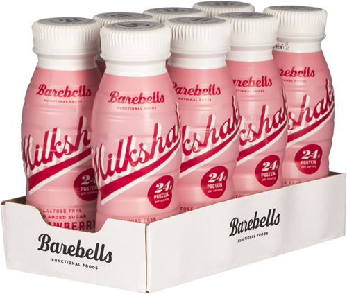 Barebells Milkshake Strawberry (8 x 330 ml)
