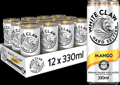 White Claw Hard Seltzer Mango (12 x 330 ml)
