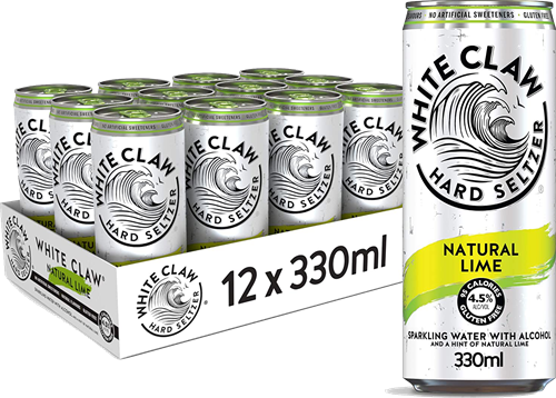 White Claw Hard Seltzer Natural Lime (12 x 330 ml)