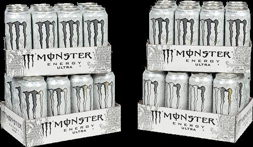 Monster Energy Ultra White 4 Pack (48 x 500 ml)